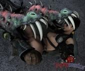 Romcomics Lara with Monsters