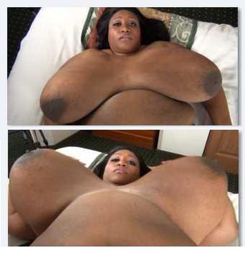 Cotton Candi   giant breasts in On Back Jiggle Show HD