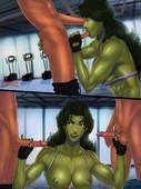 New comic by SunsetRiders7 - She Hulk Workout
